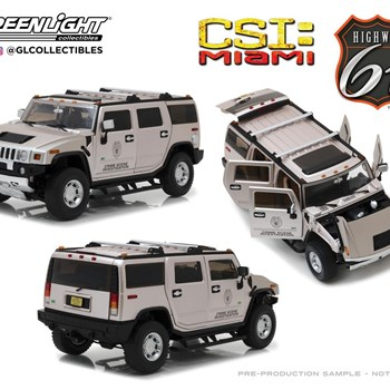 1:18 HIGHWAY 61 CSI MIAMI HUMMER H2 2003