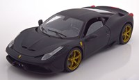 1:18 HOT WHEELS FERRARI 458 SPECIALE MATT BLACK