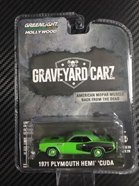 1:64 GREENLIGHT PLYMOUTH CUDA 1971