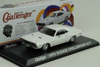 1:43 GREENLIGHT DODGE CHALLENGER 1970 white