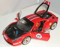 1:18 HOT WHEELS FERRARI 458 CHALLENGE RED ELİTE SERİSİ